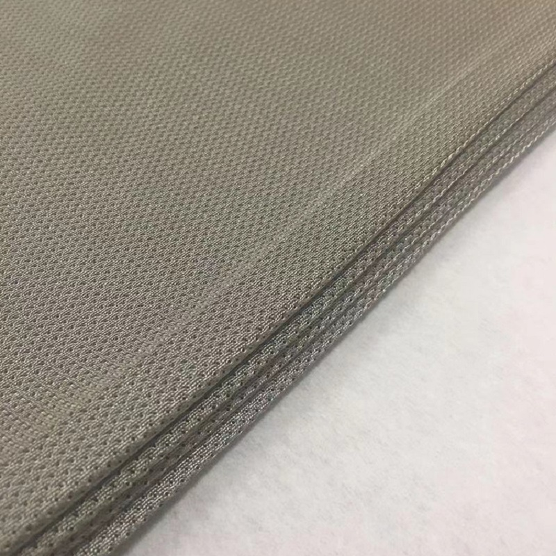 Silver-plated mesh cloth silver fiber mesh cloth silver conductive cloth anti-radiation cloth